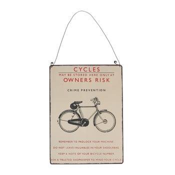 Tăbliță de perete retro Rex London Bicycle, 17 x 23 cm bonami.ro