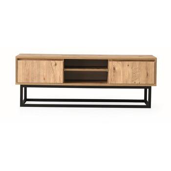 Comodă TV cu aspect de lemn de pin Kalune Design Belinda, lungime 180 cm, natural imagine
