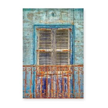 Tablou din lemn de pin Really Nice Things Balcony, 40 x 60 cm bonami.ro
