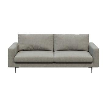 Canapea cu 3 locuri devichy Levie, gri deschis imagine