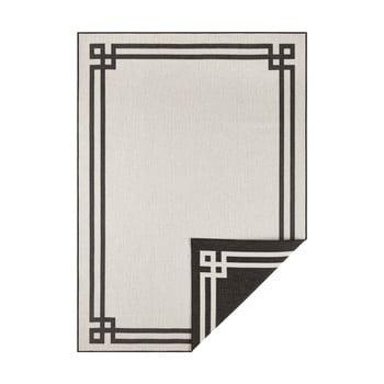 Covor adecvat pentru exterior Bougari Manito, 160 x 230 cm, negru-crem imagine