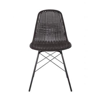 Set 2 scaune adecvate interior/exterior BePureHome Spun, negru imagine