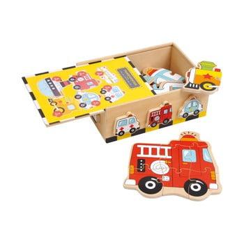 Puzzle din lemn Legler Vehicles poza bonami.ro