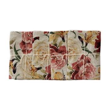 Set 4 șervețele textile Linen Couture Roses, lățime 40 cm bonami.ro