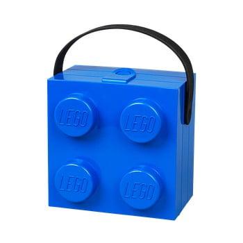 Cutie depozitare LEGO® cu mâner, albastru bonami.ro