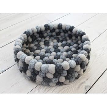 Coș depozitare, cu bile din lână Wooldot Ball Basket, ø 28 cm, gri închis bonami.ro