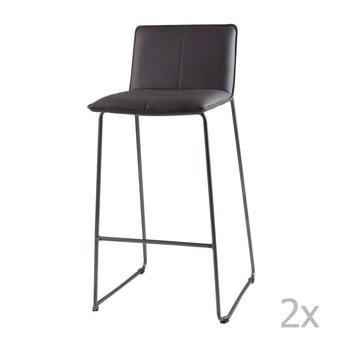 Set 2 scaune de bar sømcasa Lou, gri poza bonami.ro