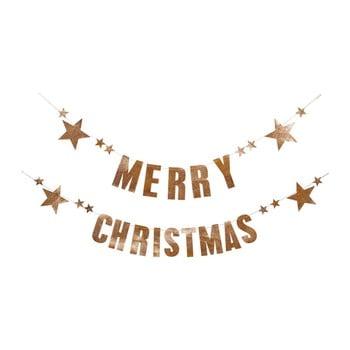 Set 2 ghirlande din hârtie pentru Crăciun Bloomingville Garland bonami.ro
