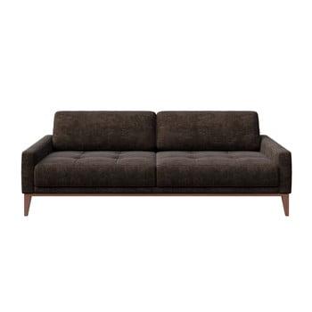 Canapea cu 3 locuri MESONICA Musso Tufted, maro închis