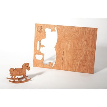 Carte poștală din lemn Formes Berlin Koník, 14,8 x 10,5 cm bonami.ro