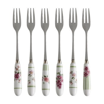 Set 6 furculițe cu mâner din ceramică Brandani Nonna Rosa bonami.ro