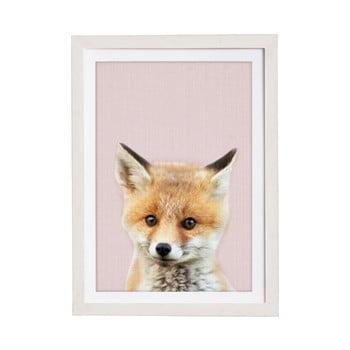 Tablou cu ramă pentru perete Querido Bestiario Baby Fox, 30 x 40 cm bonami.ro