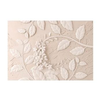 Tapet format mare Bimago Beige Paper Flowers, 400 x 280 cm poza bonami.ro