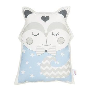 Pernă din amestec de bumbac pentru copii Mike&Co.NEWYORK Pillow Toy Smart Cat, 23 x 33 cm, albastru bonami.ro