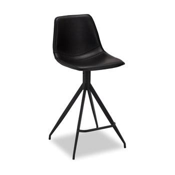Set 2 scaune de bar Furnhouse Isabel, negru poza bonami.ro