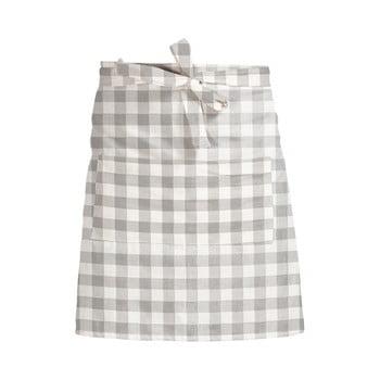Șorț textil Linen Couture Delantal de Lino Grey Vichy bonami.ro