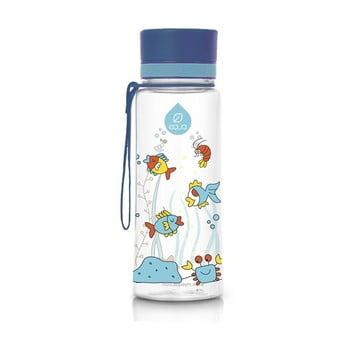 Sticlă din plastic reutilizabilă Equa Equarium, 0,6 l, albastru poza bonami.ro