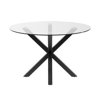 Masă rotundă de dining cu blat din sticlă La Forma, ø 119 cm imagine