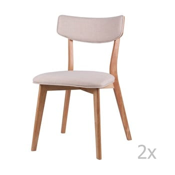 Set 2 scaune sømcasa Anais, natural-crem poza bonami.ro