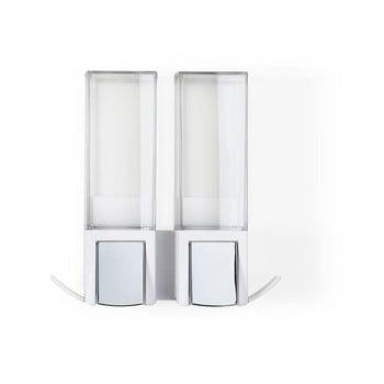 Dozator dublu pentru săpun lichid Compactor Clever Double, alb bonami.ro