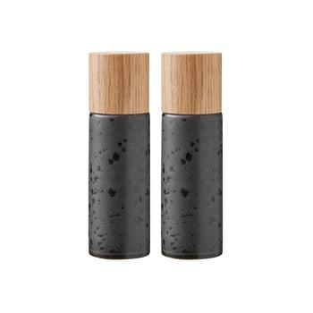 Set 2 râșnițe din gresie ceramică pentru sare și piper Bitz Basics Black, negru bonami.ro