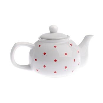 Ceainic din ceramică Dakls Dots, 1 l, alb bonami.ro