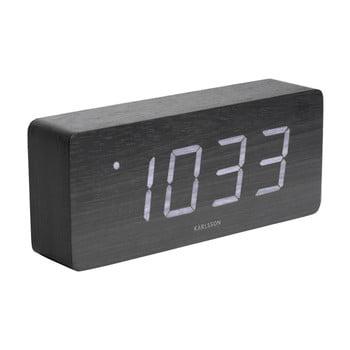 Ceas alarmă cu aspect de lemn, Karlsson Cube, 21 x 9 cm bonami.ro