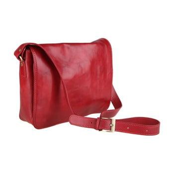 Geantă din piele Chicca Borse Norma, roșu imagine