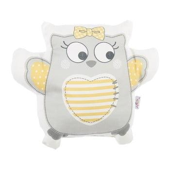 Pernă din amestec de bumbac pentru copii Mike&Co.NEWYORK Pillow Toy Owl, 32 x 26 cm, gri poza bonami.ro