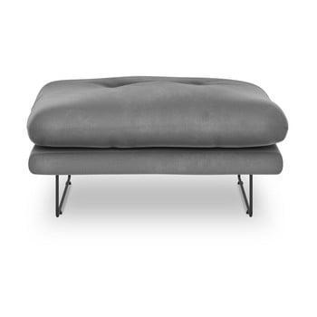 Puf cu tapițerie de catifea Windsor & Co Sofas Gravity, gri imagine