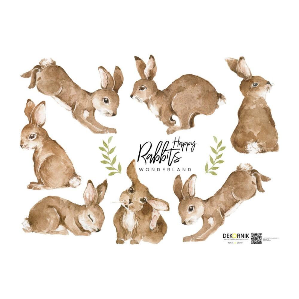 Autocolant pentru perete Dekornik Happy Rabbits Wonderland