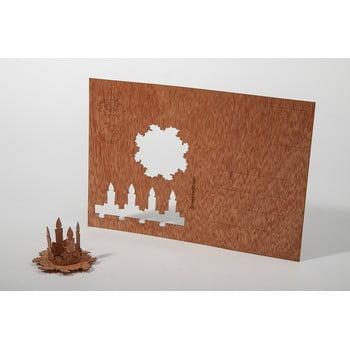 Carte poștală din lemn Formes Berlin Adventní věnec, 14,8 x 10,5 cm poza bonami.ro