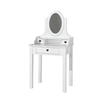 Masă de toaletă Vipack Amori, înălțime 136 cm, alb poza bonami.ro