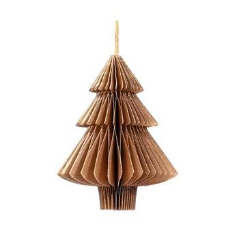 Decorațiune din hârtie pentru Crăciun, formă brad Only Natural, lungime 10 cm, maro auriu bonami.ro