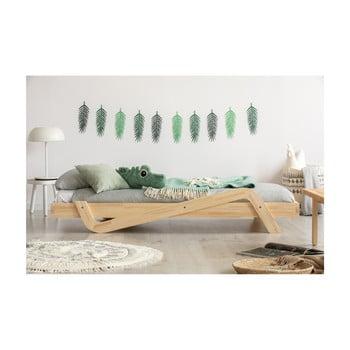 Pat din lemn de pin pentru copii Adeko Zig, 90 x 200 cm bonami.ro