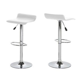 Set 2 scaune de bar Actona Dan, alb imagine