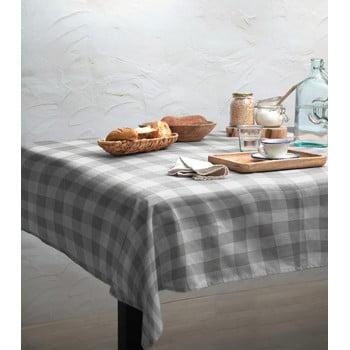Față de masă Linen Couture Lino Grey Vichy, 140 x 200 cm bonami.ro