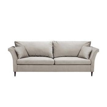 Canapea extensibilă cu spațiu pentru depozitare Mazzini Sofas Pivoine, bej imagine