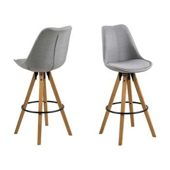 Set 2 scaune de bar Actona Dima, gri deschis imagine