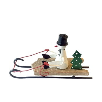 Decorațiune pentru Crăciun G-Bork Snowman on Sled poza bonami.ro