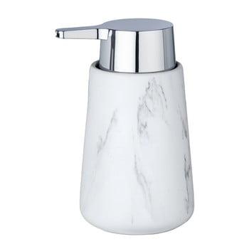 Dozator din ceramică pentru săpun Wenko Adrada, alb poza bonami.ro
