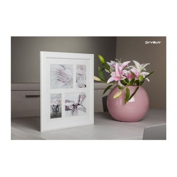 Ramă foto pentru 4 fotografii Styler Malmo, 39x39cm, alb poza bonami.ro