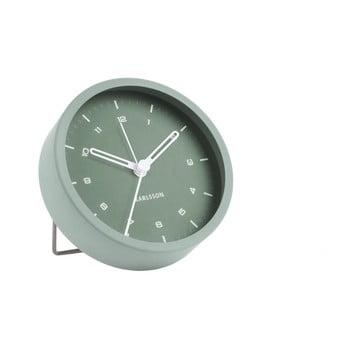 Ceas cu alarmă Karlsson Tinge, ø 9cm, verde bonami.ro