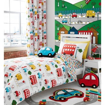Lenjerie de pat pentru copii Catherine Lanfsield Cars, 135 x 200 cm bonami.ro
