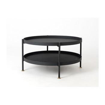 Masă de cafea Custom Form Hanna, ⌀ 60 cm, negru imagine