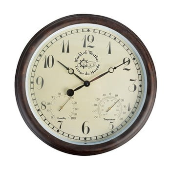 Ceas de perete cu cifre arabe și termometru pentru exterior Ego Dekor bonami.ro