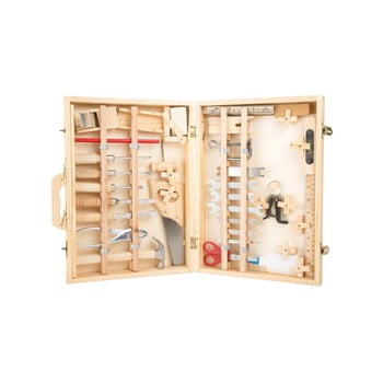 Set unelte și cutie din lemn pentru copii Legler Deluxe bonami.ro