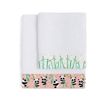 Set 2 prosoape pentru copii Moshi Moshi Panda Garden bonami.ro