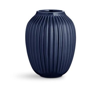 Vază din gresie Kähler Design Hammershoi,înălțime 25 cm, albastru închis bonami.ro