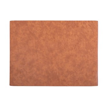 Suport farfurie din imitație de piele ZicZac Troja Rectangle,33x45cm, portocaliu - maro bonami.ro